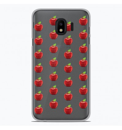 Coque en silicone Samsung Galaxy J4 2018 - Pommes Gris