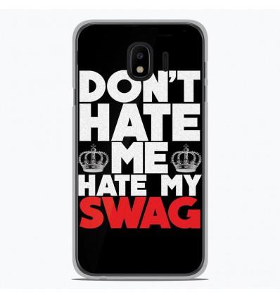 Coque en silicone Samsung Galaxy J4 2018 - Swag Hate