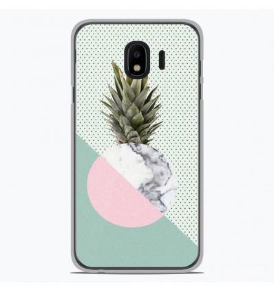 Coque en silicone Samsung Galaxy J4 2018 - Ananas marbre