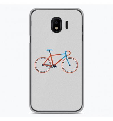 Coque en silicone Samsung Galaxy J4 2018 - Bike color Hipster