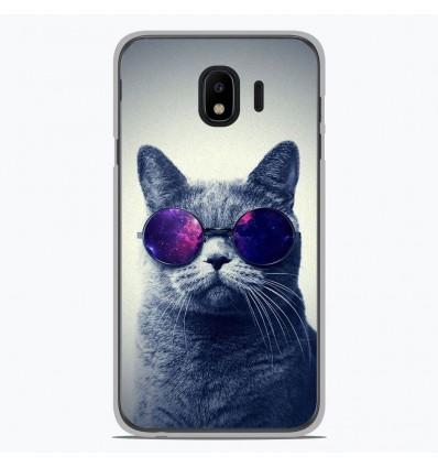 Coque en silicone Samsung Galaxy J4 2018 - Chat à lunette