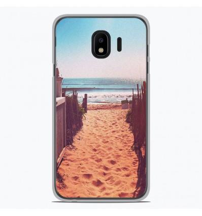 Coque en silicone pour Samsung Galaxy J4 2018 - Chemin de plage