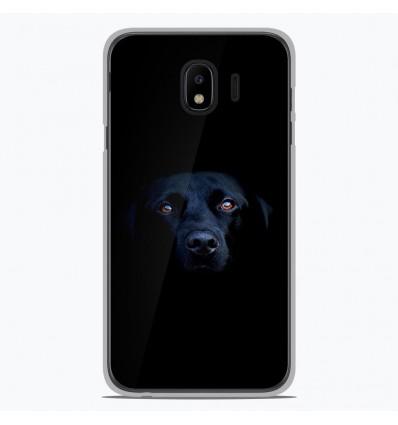 Coque en silicone pour Samsung Galaxy J4 2018 - Chien noir