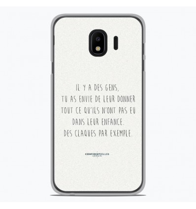 Coque en silicone pour Samsung Galaxy J4 2018 - Citation 01