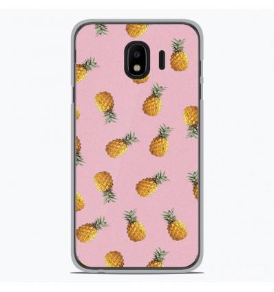 Coque en silicone pour Samsung Galaxy J4 2018 - Pluie d'ananas