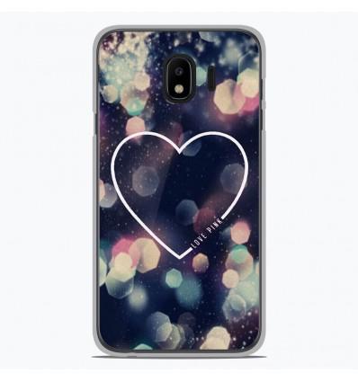 Coque en silicone pour Samsung Galaxy J4 2018 - Coeur Love