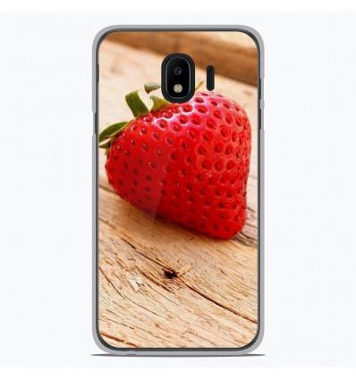 Coque en silicone pour Samsung Galaxy J4 2018 - Envie d'une fraise