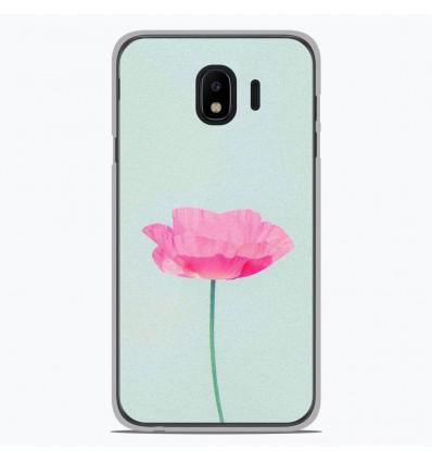 Coque en silicone Samsung Galaxy J4 2018 - Fleur Rose