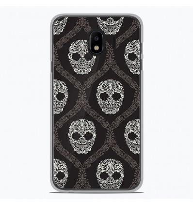 Coque en silicone Samsung Galaxy J4 2018 - Floral skull