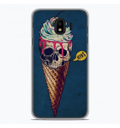 Coque en silicone pour Samsung Galaxy J4 2018 - Ice cream skull blue