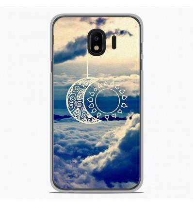 Coque en silicone pour Samsung Galaxy J4 2018 - Lune soleil