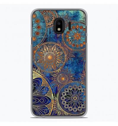 Coque en silicone Samsung Galaxy J4 2018 - Mandalla bleu