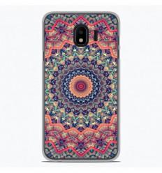 Coque en silicone Samsung Galaxy J4 2018 - Mandalla rose