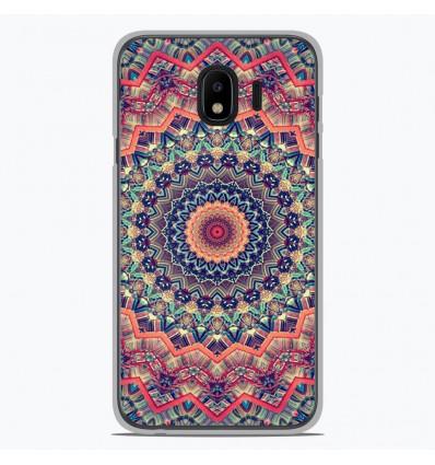 Coque en silicone pour Samsung Galaxy J4 2018 - Mandalla rose