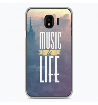 Coque en silicone Samsung Galaxy J4 2018 - Music is life