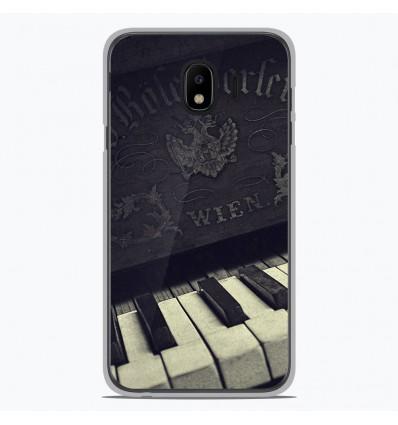 Coque en silicone Samsung Galaxy J4 2018 - Old piano