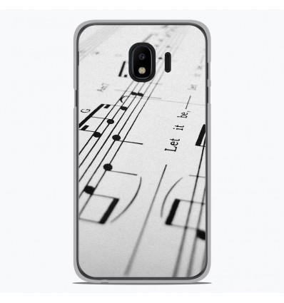 Coque en silicone Samsung Galaxy J4 2018 - Partition de musique