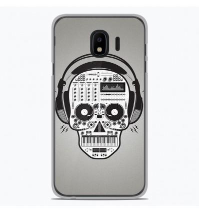 Coque en silicone pour Samsung Galaxy J4 2018 - Skull Music