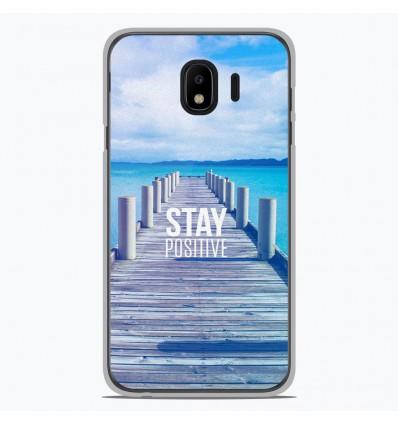 Coque en silicone pour Samsung Galaxy J4 2018 - Stay positive