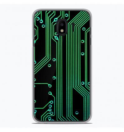 Coque en silicone pour Samsung Galaxy J4 2018 - Texture circuit geek