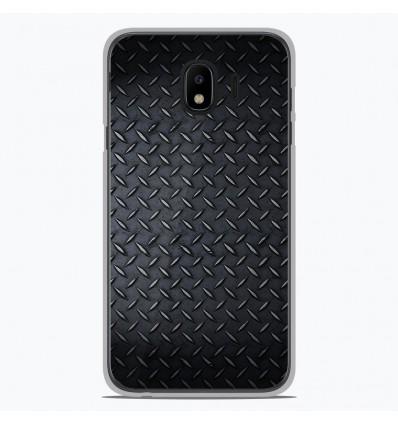 Coque en silicone pour Samsung Galaxy J4 2018 - Texture metal