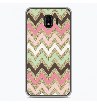 Coque en silicone pour Samsung Galaxy J4 2018 - Texture rose