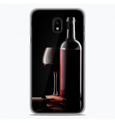 Coque en silicone pour Samsung Galaxy J4 2018 - Vin