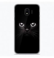 Coque en silicone Samsung Galaxy J4 2018 - Yeux de chat