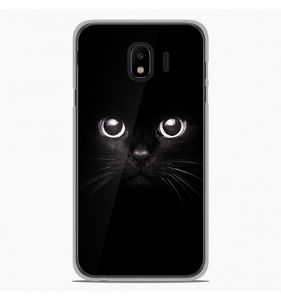 Coque en silicone pour Samsung Galaxy J4 2018 - Yeux de chat