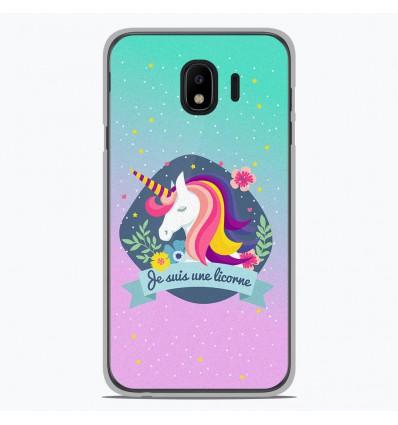 Coque en silicone Samsung Galaxy J4 2018 - Je suis une licorne