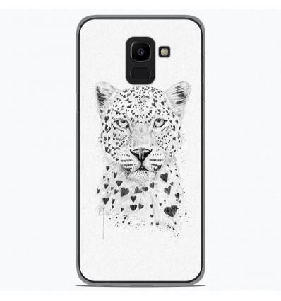Coque en silicone pour Samsung Galaxy J6 2018 - BS Love leopard