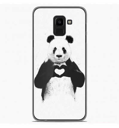 Coque en silicone Samsung Galaxy J6 2018 - BS Love Panda