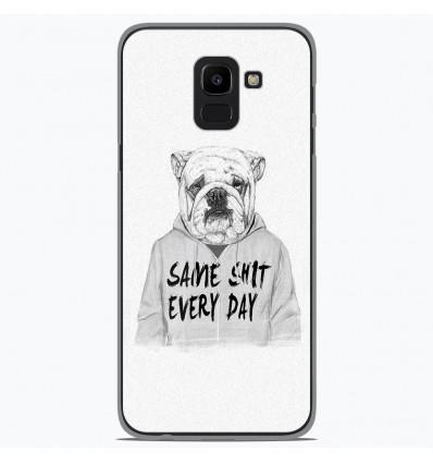 Coque en silicone Samsung Galaxy J6 2018 - BS Same shit