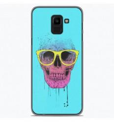 Coque en silicone Samsung Galaxy J6 2018 - BS Skull glasses