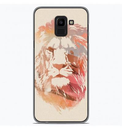 Coque en silicone pour Samsung Galaxy J6 2018 - RF Desert Lion