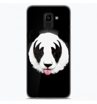 Coque en silicone Samsung Galaxy J6 2018 - RF Kiss Of Panda