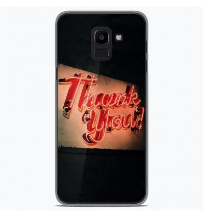Coque en silicone pour Samsung Galaxy J6 2018 - Thank You