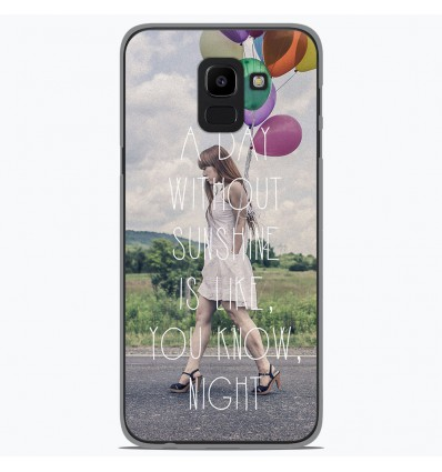 Coque en silicone Samsung Galaxy J6 2018 - Woman