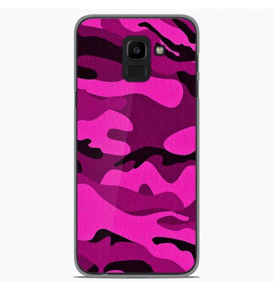 Coque en silicone pour Samsung Galaxy J6 2018 - Camouflage rose