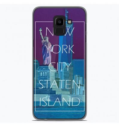 Coque en silicone Samsung Galaxy J6 2018 - New york