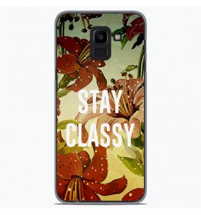 Coque en silicone Samsung Galaxy J6 2018 - Stay classy