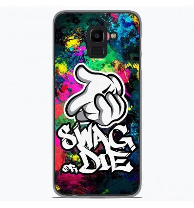 Coque en silicone Samsung Galaxy J6 2018 - Swag or die