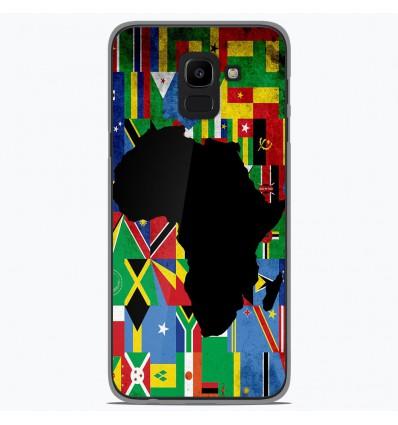 Coque en silicone Samsung Galaxy J6 2018 - Drapeau Afrique