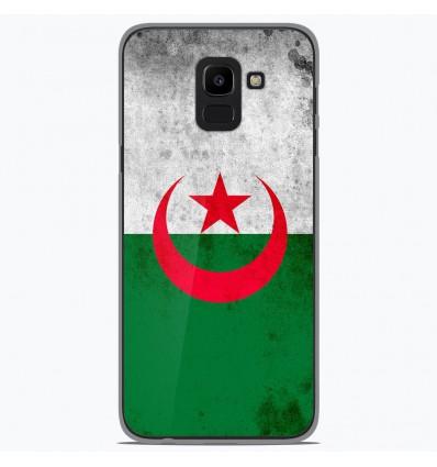 Coque en silicone Samsung Galaxy J6 2018 - Drapeau Algérie