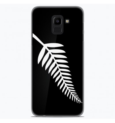 Coque en silicone Samsung Galaxy J6 2018 - Drapeau All-black