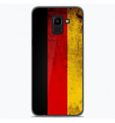 Coque en silicone Samsung Galaxy J6 2018 - Drapeau Allemagne