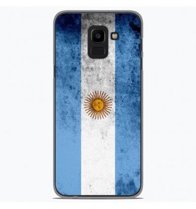 Coque en silicone Samsung Galaxy J6 2018 - Drapeau Argentine