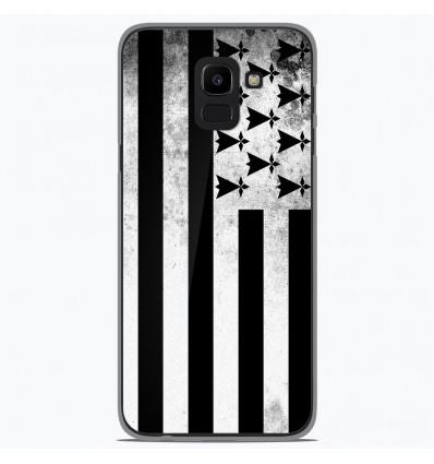 Coque en silicone Samsung Galaxy J6 2018 - Drapeau Bretagne