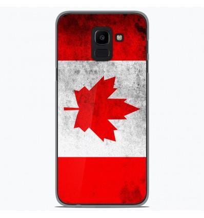 Coque en silicone Samsung Galaxy J6 2018 - Drapeau Canada