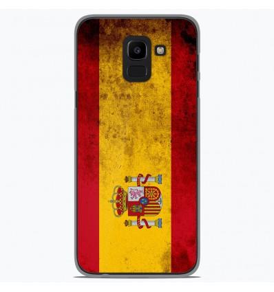 Coque en silicone Samsung Galaxy J6 2018 - Drapeau Espagne